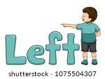 illustration of a kid boy... | Shutterstock .eps vector #1075504307