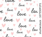 repeating hearts  round dots... | Shutterstock .eps vector #1075509191