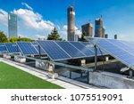 solar and modern city skyline  | Shutterstock . vector #1075519091