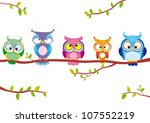 illustration of five different... | Shutterstock .eps vector #107552219