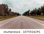 american country road | Shutterstock . vector #1075526291