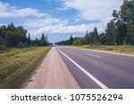 american country road | Shutterstock . vector #1075526294
