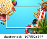 summer holidays blank... | Shutterstock .eps vector #1075526849