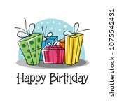 happy birthday background card... | Shutterstock .eps vector #1075542431