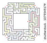 a square labyrinth. choose the...   Shutterstock .eps vector #1075545179
