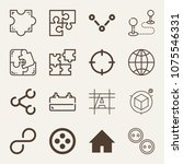 shapes outline vector icon set... | Shutterstock .eps vector #1075546331