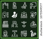 set of 16 people outline icons... | Shutterstock .eps vector #1075549577