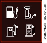 set of 4 fuel outline icons... | Shutterstock .eps vector #1075549601