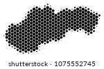 halftone circle slovakia map.... | Shutterstock .eps vector #1075552745