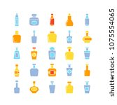 bottle icons set  color theme | Shutterstock .eps vector #1075554065