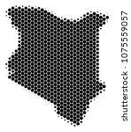 halftone circle kenya map....   Shutterstock .eps vector #1075559057