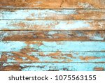 vintage beach wood background   ... | Shutterstock . vector #1075563155