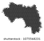 halftone dotted african guinea...