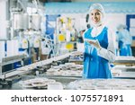 fish seafood factory   Shutterstock . vector #1075571891