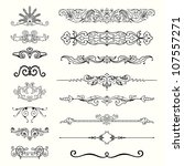 design elements   set 3  | Shutterstock .eps vector #107557271