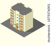 residential building isometric... | Shutterstock .eps vector #1075576001