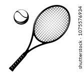 tennis racket and ball. tennis... | Shutterstock .eps vector #1075576934