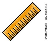 doodle precision centimeter... | Shutterstock .eps vector #1075585211