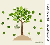 eco friendly. ecology concept... | Shutterstock .eps vector #1075585451