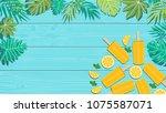 summer holiday vector... | Shutterstock .eps vector #1075587071