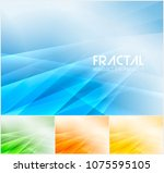 fractal abstract background... | Shutterstock .eps vector #1075595105