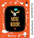 Vector Note Book Cover With...