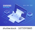 statistic and analysis concept  ... | Shutterstock .eps vector #1075595885