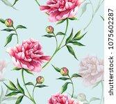 Flowers Peony Watercolor...