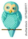 Funny Curious Turquoise Owl...