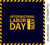 labor day design with creative... | Shutterstock .eps vector #1075609751