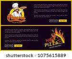 pizzeria online delivery... | Shutterstock .eps vector #1075615889