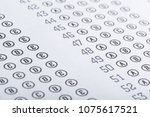test score sheet with answers | Shutterstock . vector #1075617521