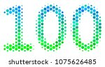halftone dot 100 text icon.... | Shutterstock .eps vector #1075626485