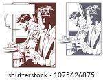stock illustration. businessman ...   Shutterstock .eps vector #1075626875