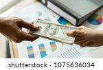 close up hand of business... | Shutterstock . vector #1075636034