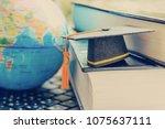 graduate study abroad program... | Shutterstock . vector #1075637111