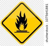 fire sign  vector   Shutterstock .eps vector #1075641881