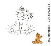 dot to dot game. educational... | Shutterstock .eps vector #1075642595