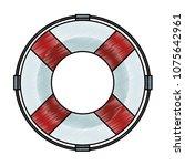 float life saver scribble | Shutterstock .eps vector #1075642961