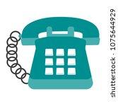 vintage telephone symbol | Shutterstock .eps vector #1075644929