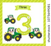 cute children flashcard number... | Shutterstock .eps vector #1075649081