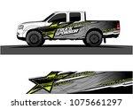 pickup truck graphic vector.... | Shutterstock .eps vector #1075661297