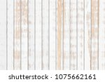 white wood plank texture... | Shutterstock . vector #1075662161