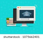 education via online video on... | Shutterstock .eps vector #1075662401
