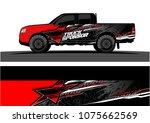 pickup truck graphic vector....   Shutterstock .eps vector #1075662569