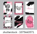 creative fashion glamour hand... | Shutterstock .eps vector #1075663571