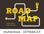 road map business concept with... | Shutterstock .eps vector #1075666115