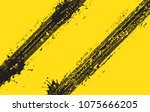 vector tire track background... | Shutterstock .eps vector #1075666205
