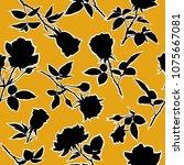 flowering roses seamless... | Shutterstock .eps vector #1075667081