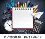 back to school vector... | Shutterstock .eps vector #1075668149
